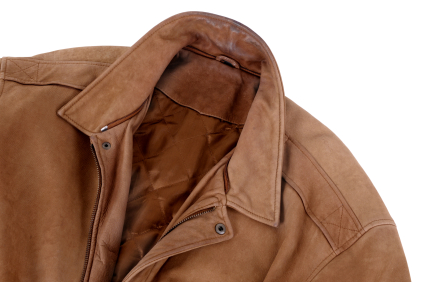 Classic tan leather jacket (XL)